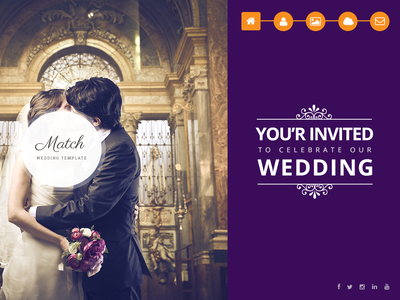 Match Wedding Template photoshop psd mockup