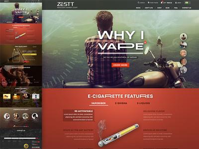 Zestt Homepage demo design