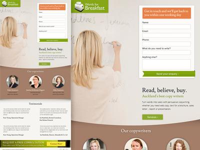 Landing Page design demo
