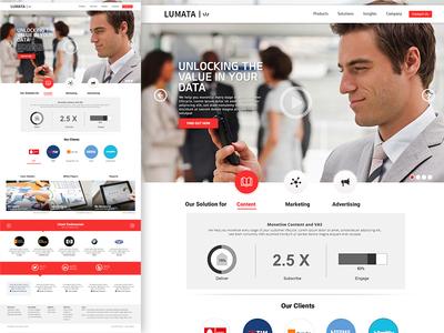 Lumata homepage demo design