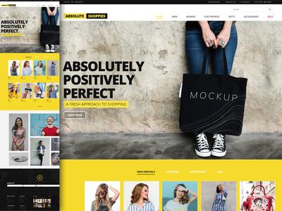 E-Commerce Demo Homepage Design https://lnkd.in/fPCtqav