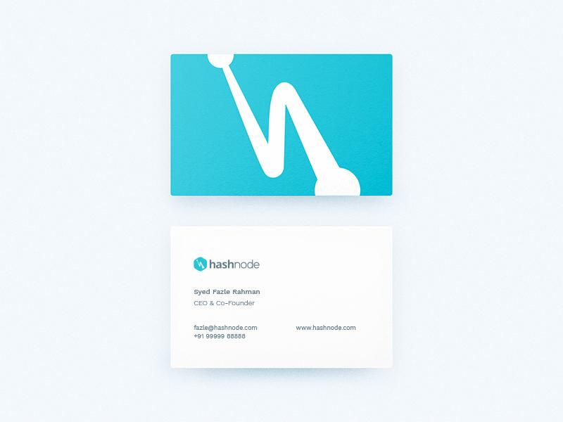 Hashnode business visiting cards design