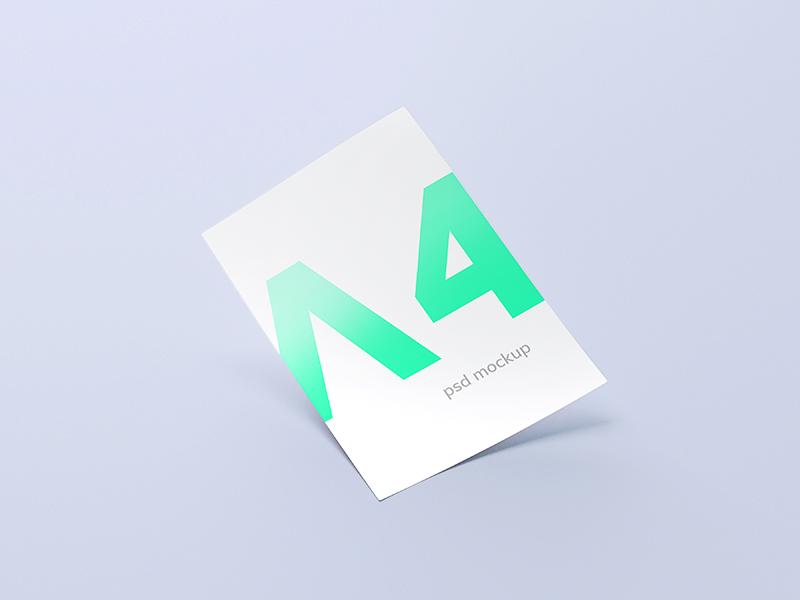 A4 Paper / Free PSD Mockup a4 mockup free psd download paper c4d freebie stationery branding letterhead