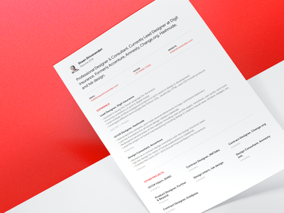Shaan Shivanandan / Resume '18 💯 print red color resume clean graphic  design design resume design paper template cv resume cv resume