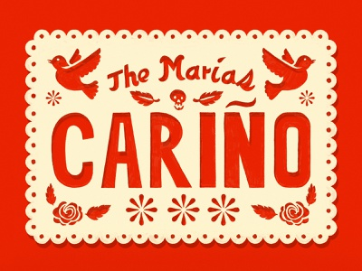 The Marias - Cariño single songs typography design graphic design illustration art