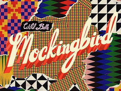 Mockingbird branding logo sugar coated typography graphic design vector design illustration art