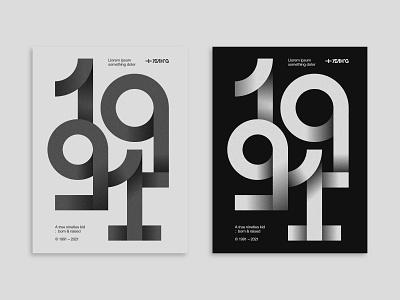© 1991 branding logo design illustration less is more glitch brutalism type design typedesign poster art black and white circles geometric art geometric design geometric type art poster design typographic typogaphy