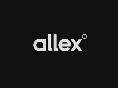 Allex - wordmark animation vector type type design typographic typography logotype animation 2d logo brand identity logodesign branding design branding logo design logo and branding animation logo animation