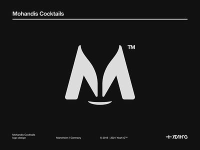 Mohandis Cocktails logo brand identity logo designs logodesigns logomark vector design branding concept branding design helvetica cocktails cocktail symbol logo designer logos logotype logodesigner logo design logodesign branding logo