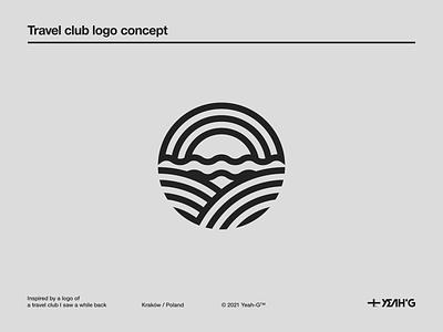 Travel club logo concept logo designer branding concept brand identity logodesign branding design branding logos logo design logotype monoline art monoline logo logo hiking travel