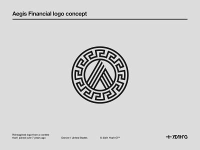 Aegis Financial logo concept credit card greek mythology greek aegis symbol symbol design monoline financial banking bank branding concept brand identity logotype logodesign branding design logo design branding logo