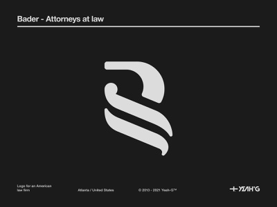 Bader - Attorneys at law logo stationery design logo concept branding concept legal office legaltech law firm brand identity logotype logodesign logo branding design logo design branding