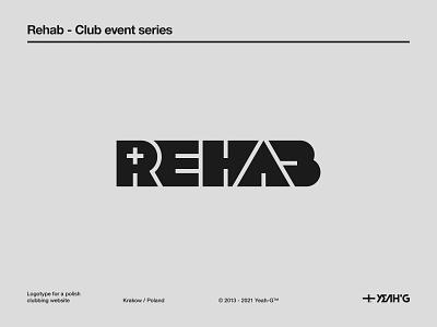 Rehab wordmark rehab streetstyle bauhaus geometric clubbing neon logo designs logo design branding logos logo designer typography branding concept brand identity logotype logodesign logo branding design logo design branding