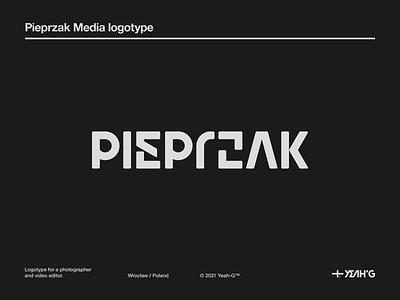 Pieprzak Media logotype geometric street art streetwear black and white photography logo wordmark logo logo design branding photography wordmark logo designs logo designer typography branding concept brand identity logotype logo branding design branding logo design logodesign
