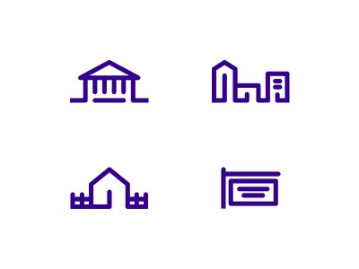 Title Insurance Icons commercial bank home icons branding design