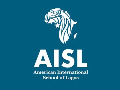 American International School of Lagos app icon typography ux vector branding ui logo illustration design
