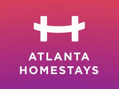 Atlanta Homestays ux vector ui typography logo illustration icon design branding app