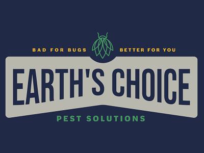 Earth's Choice Pest Solutions ux vector ui typography logo illustration icon design branding app