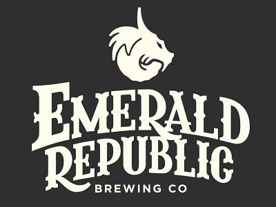 Emerald Republic Brewing Co ux vector ui typography logo illustration icon design branding app