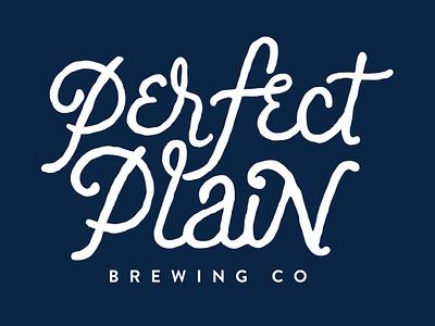Perfect Plain Brewing Co. ux logo ui vector typography icon illustration design branding app