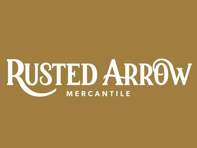Rusted Arrow Mercantile ux ui app vector typography logo illustration icon design branding