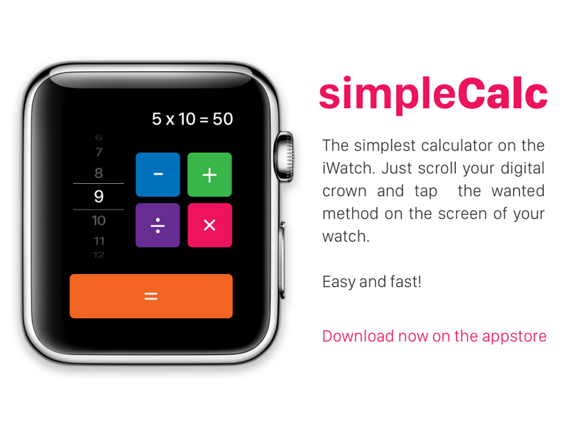 Daily Ui Day 004 Calculator Le Watch Iwatch Dailyui