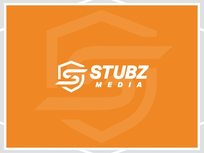 Stubz Media Branding company branding shield logo shield s logo badge logo iowa company logo media branding media logo media