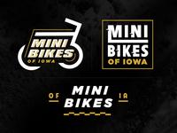 Mini Bikes of Iowa Branding motorsport bike logo motorcycle logo bikes bike motorcycle moto moped dirt bike mini bike iowa