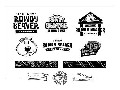 Branding Items for a bar bar branding clubhouse beaver bar logo beer logo draft beer bar iowa