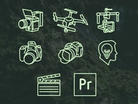 Set of Icons for a Film Company.