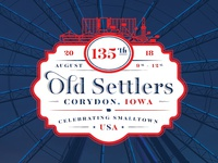 2018 Old Settlers Badge