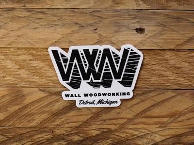 Sticker Design for Wall Woodworking