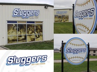 Sluggers Branding & Exterior Signage