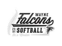 2018 Wayne Falcons Softball Shirt Graphic