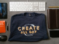 Gradient9 Create All Day Shirt Design