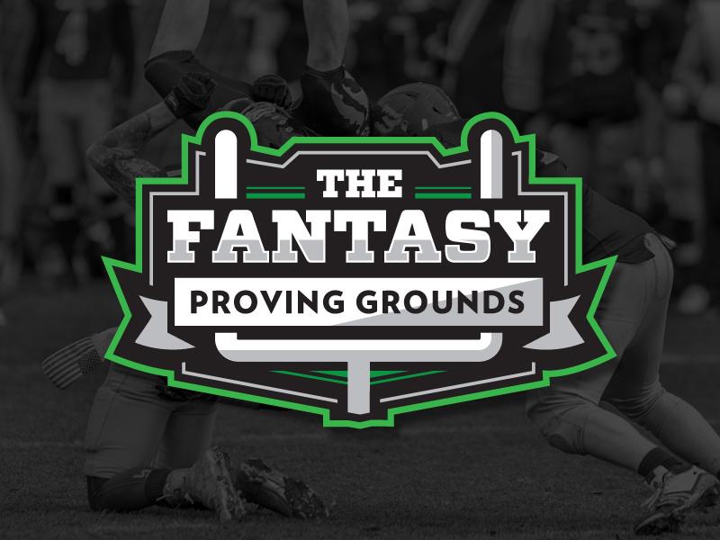 The Fantasy Proving Grounds Logo fantasy football logo sports logo fantasy sports football fantasy football