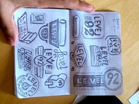 Level 92 Screen Printing Sketches/Ideas