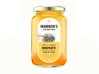 Warren's Just Bee Farm Honey Labels