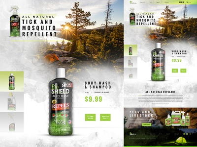 Home Page for a Repellent Company