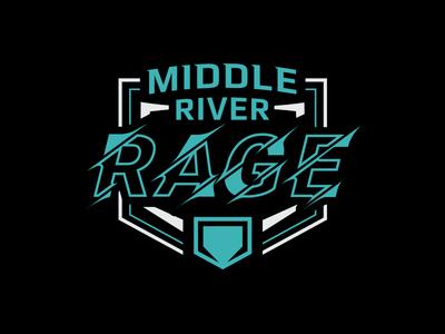 Middle River Rage Softball Shirt Graphic
