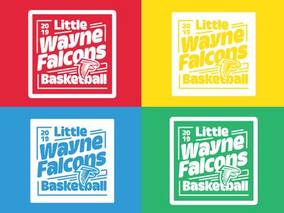 2019 Little Wayne Falcons Baskeball Shirt Design