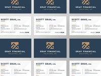Gray Financial Business Cards