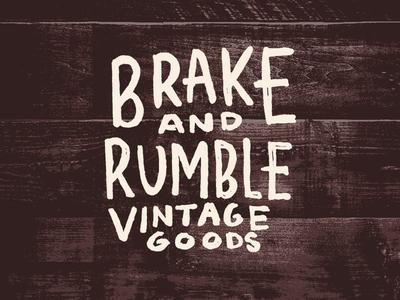 Brake And Rumble Vintage Goods