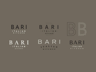 First Round Branding Options for an Italian Kitchen
