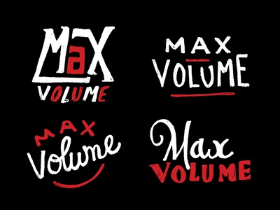 Max Volume rock jam beat letters drawing gritty hand lettering max volume volume music