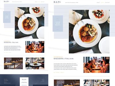 Website Proposal for a Modern Italian Restaurant