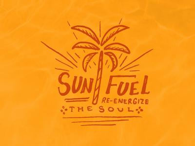 Sun Fuel hot warm destination energy soul outdoors summer sunny vacation sand palm tree beach tropical sun