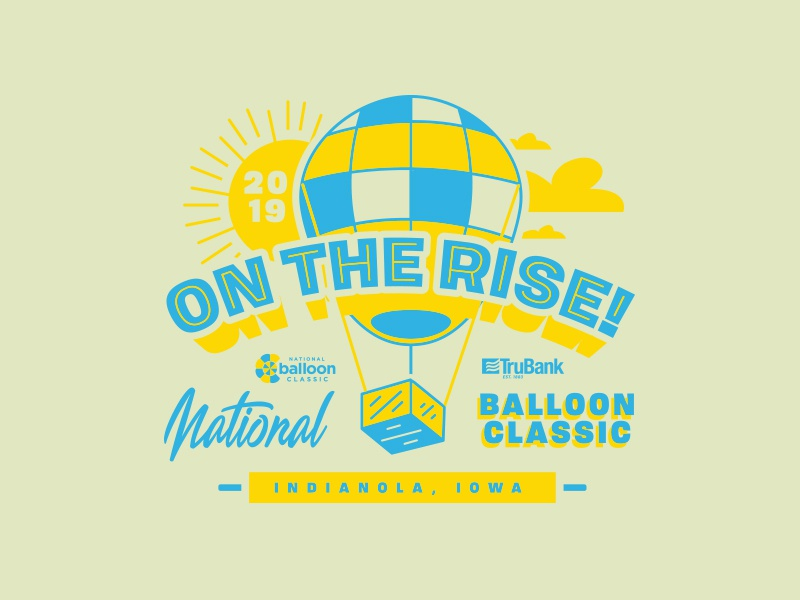 Killed T-Shirt Design for the National Balloon Classic clouds sunny summer summer design shirt design sunrise balloons balloon air balloon hot air balloon