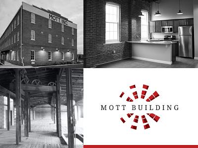 Mott Building Branding brick apartment modern retor modern old building windmill building restored history