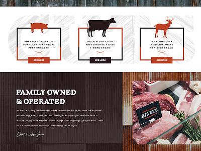 A portion of a Meat Locker Website butcher website iowa steak meat locker locker meat butcher beef hog deer pig cow animal